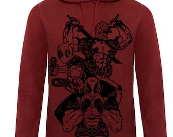 Deadpool hoodie merc with a mouth samurai gunslinger marvel premium hoodie
