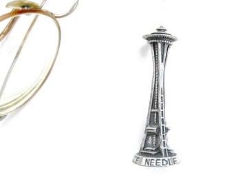 Vintage Pewter Space Needle • Solid Pewter • Seattle WA Souvenir Shelf-Sitter