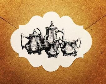 Envelope Seals / Stickers - Tea Pots #101