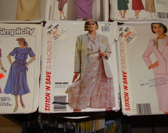 Ten Women's Dress Patterns from 1980s/Sewing/Suits/Dresses/Skirts/size 12/#4