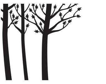 NEW Embossing Folder TREE TRUNKS By Darice #1218-12
