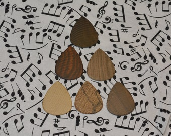 6 Pack Exotic Wood Guitar Pick (Pack B)