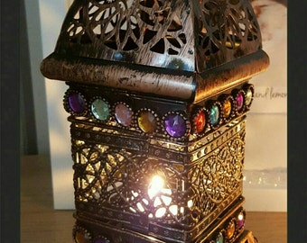 Beautiful Bejewelled Morrocan Style Lantern.
