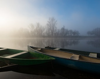 Sunrise over the Dordogne photographic print