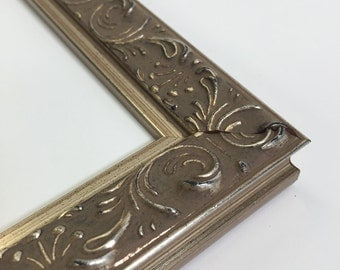 Silver Ornate Picture Frame - 8x10 - Filigree Picture Frame, With Glass and Easel Backing - Only One in stock - Ornate silver photo Frame