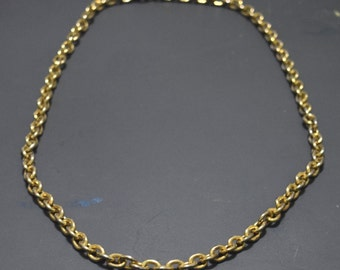 Vintage Gold Chain Necklace-Long-Gift for Her-Gift for Him-Christmas-Holiday-Present