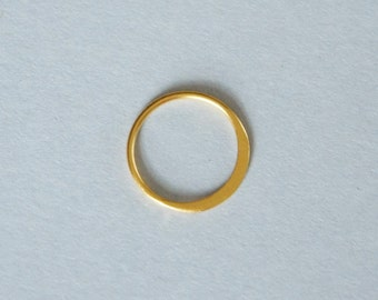 Gold Vermeil Circle, Gold Circle Link, Circle Connector, 12.3mm, One Piece, Fast Shipping from USA
