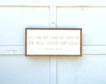 1'X2' As For Me And My House We Will Serve The Lord