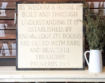 2'X2' By Wisdom A House Is Built