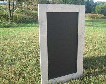 Rustic chalkboard, driftwood stained chalk board framed chalkboard farmhouse