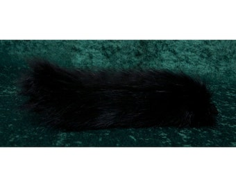 "15"" Child's Black Faux Fur Wolf Tail"
