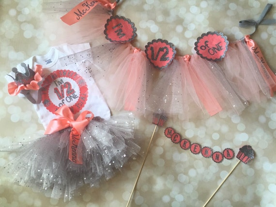 Six months birthday first birthday smash cake tutu for 6 month birthday decorations