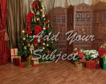 Digital Christmas Photo Background Download Backdrop