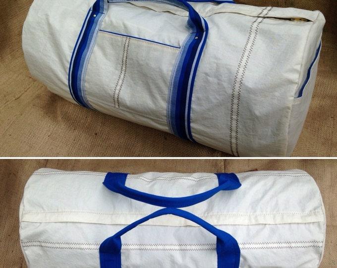 Custom Duffel Bag, sail cloth duffel, gear bag, luggage, gym bag, canvas lining