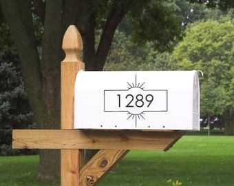 Modern Mailbox Decal / Address Decal / Mailbox Sticker / Custom Decal / Style 4