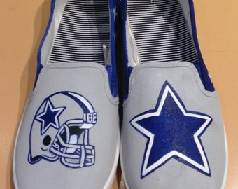 Women's Dallas Cowboy Canvas Shoes