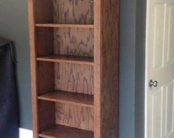 Oak Bookcase / Bookshelf / Bookshelves / Stained Bookcase