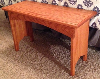 Entryway Bench / Oak Bench / Rustic Bench / Farmhouse Bench / hardwood Bench