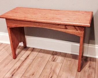 Rustic Bench / Entryway Bench / Oak Bench / Rustic Bench / Farmhouse Bench / hardwood Bench