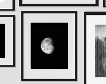 Moon Phase, Art Prints, Moon Wall Art, Moon Print Art, Night Sky Artwork, Moon Home Decor, Moon Wall Decor, Dorm, Artwork, Decor