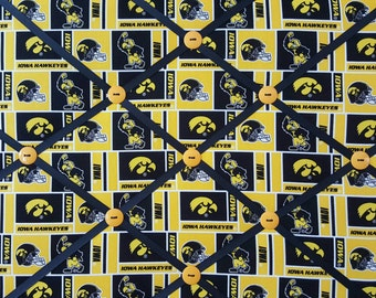 University of Iowa FABRIC MEMORY BOARD/Iowa Hawkeyes Decor/Univeristy of Iowa Hawkeye Memo Board, Photo Holder, Ribbon Board, Pin Board