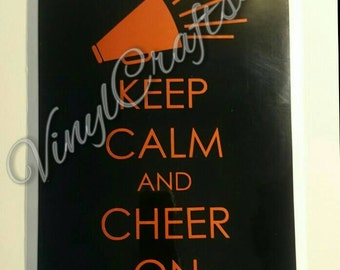 Keep Calm Cheer Quote