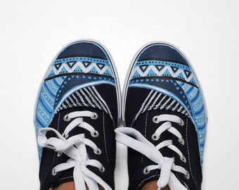 Ethnic Canvas Sneakers.