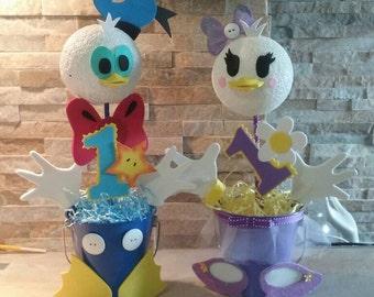 Donald Duck and Daisy  Duck's Centerpieces/ Donald Duck centerpieces