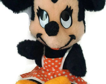 Vintage 1960's Minnie Mouse Stuffed Animal-Vintage Disney