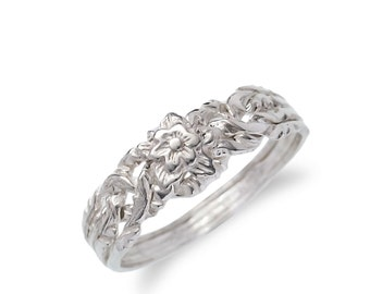 925k silver 4 band rose puzzle ring