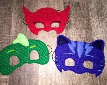 ADULT SIZE PJ Bedtime Heroes Dress Up Mask Costume Accessory (Choose Owl, Cat, Gecko Mask)