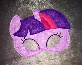 Twilight Sparkle Pony Mask (costume accessory, dress up, imaginative play, cosplay)