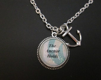 The Anchor Holds necklace, faith religious inspirationals necklace. #9546