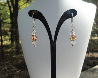 Swarovski and Sterling Silver Earrings