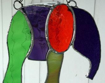 Elephant Stained Glass Suncatcher
