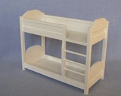 Bunk Bed for 12 inch doll / 1:6 scale Bedroom Furniture / Barbie size Dollhouse furniture.