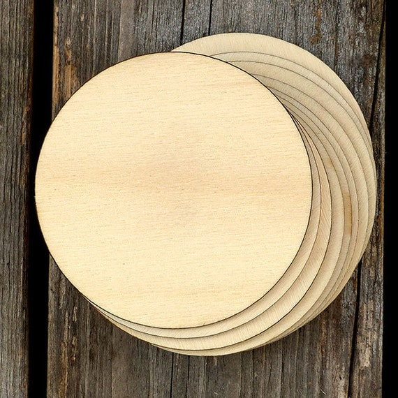 10 x wooden plain round circles craft shapes 3mm plywood for Wood circles for crafts
