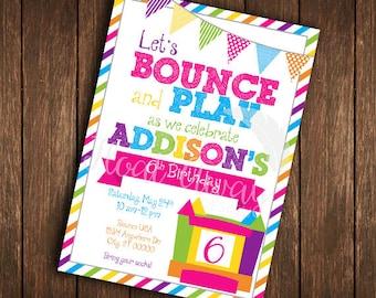 Bounce House Birthday Invitation   Printable   DIY
