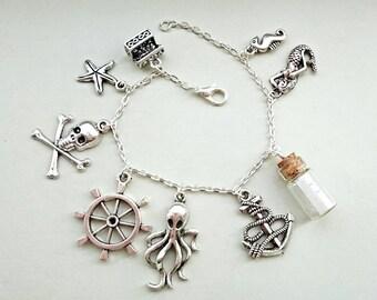 Pirate charm bracelet / pirates / charm bracelet