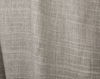 100% linen fabrics, pure linen fabrics, striped natural grey, undyed linen fabrics by the half-meters