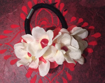 Floral Hair Tie Beaded Accessory