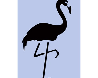 Flamingo stencil A4 (8' x 11.5') Bird Stencil for Walls, DIY, Crafts, Furniture Painting Projects, Glass, Signs 045