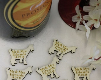 Billy Goats Gruff Goat shaped PERSONALISED Wedding CP or birthday Table Confetti
