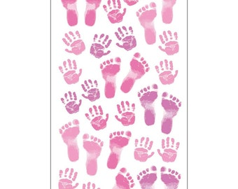 Sticko Scrapbooking Stickers - Baby Girl Footprints and Handprints