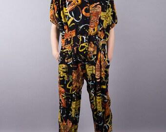 Vintage jumpsuit with print - Susi