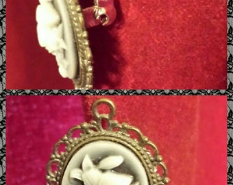 Butterfly Cameo Brooch