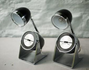 Pair of Mid Century Bullet Lamps, Telescoping Desk Lamp.  Hamilton Industries