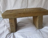 wood bench No.19   Vintage  Stool  Old furniture   Antique  Stool  Old wooden barrel  Antique   Small farm bench  wooden bench