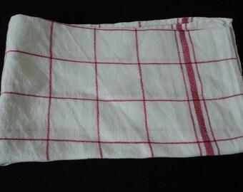 French vintage linen tea towel / torchon (02598 - 02599)