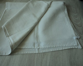 French vintage set of two metis linen  large tea towels / torchons  (00711)